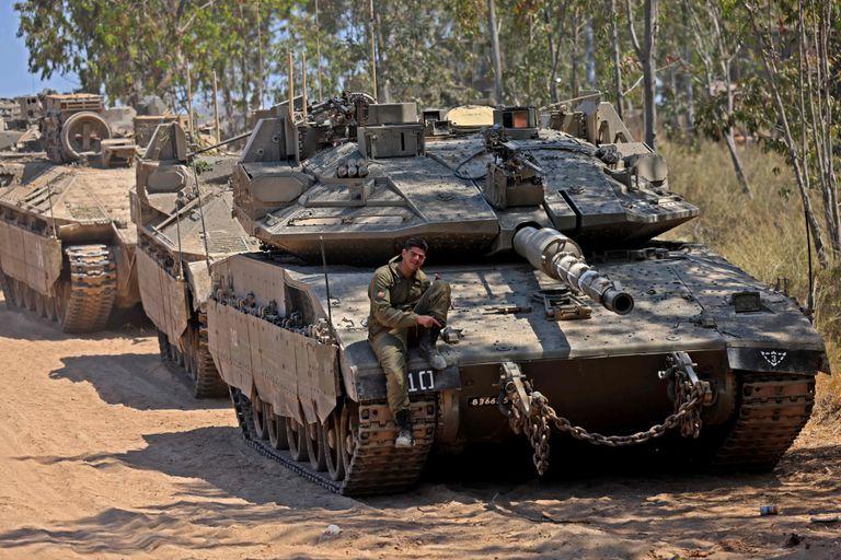 Una posición israelí cerca de la frontera con Gaza