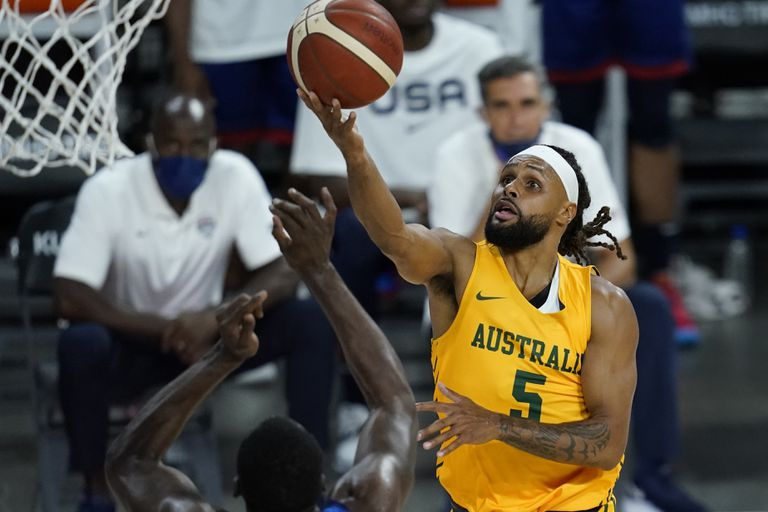 Patty Mills and another hit on Las Vegas night;  the Spurs player was featured against the US national team