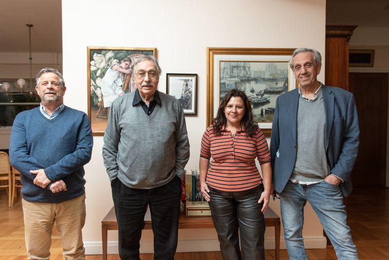 Luis Brandoni with the Adelante Ciudad candidates