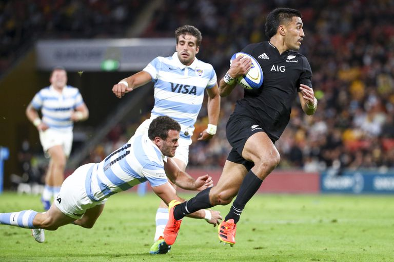 Rugby Championship test match between the All Blacks and the Cougars in Brisbane, Australia